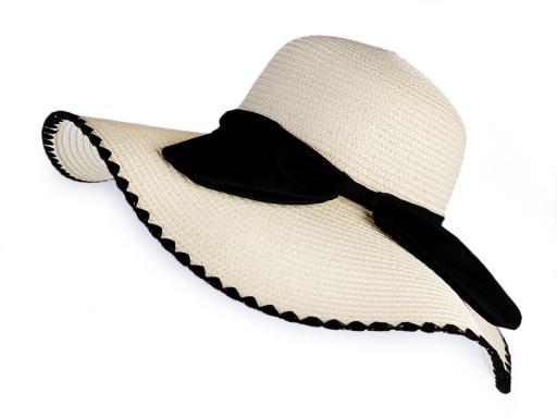 Dámský klobouk / slamák s mašlí