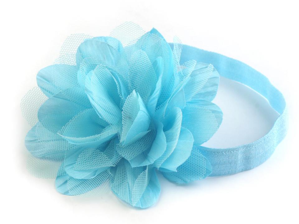 39579c323ef Pružná čelenka do vlasů s květem