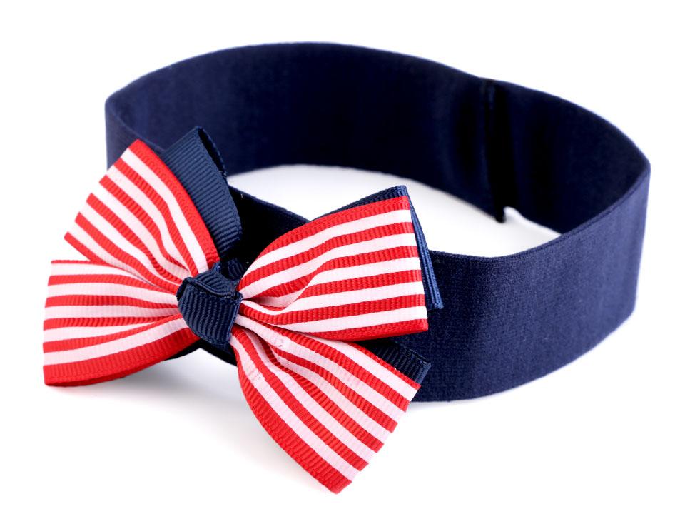 428eb14674b Dětská elastická čelenka do vlasů námořnická