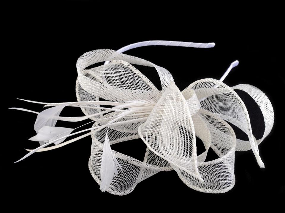 Fascinátor čelenka s květem  427ee10b35