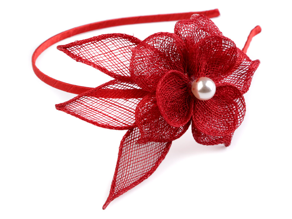 Fascinátor čelenka s květem a perlou  51cd76030f