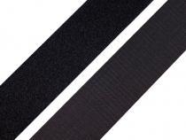 Suchý zip šíře  30mm černý  komplet Black 100m Stoklasa
