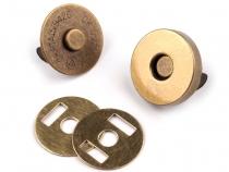 Magnetické zapínání Ø18 mm staromosaz (5 sada)