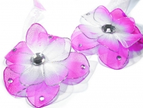 Ozdobná spona na závěsy s magnetem Ø6cm květina (4 ks)