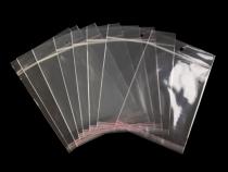 Celofánové sáčky s lepící lištou a závěsem 13x14 cm (100 ks)