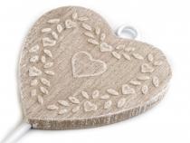 Věšák srdce 9x18cm (1 ks)