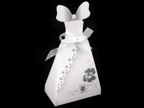 Papírová krabička s ženichem a nevěstou (1 pár)
