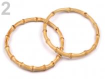 Bambusová ucha na tašky Ø15 cm (2 ks)