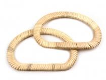 Bambusová ucha na tašky 12,5x19 cm (6 ks)