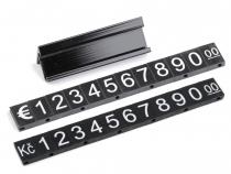 Plastové cenovky 7x12mm (50 sada)