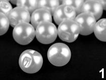 Knoflík perla Ø10 mm na svatební šaty (2000 ks)
