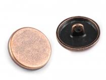 """Knoflík kovový hladký velikost 28"""" (50 ks)"""