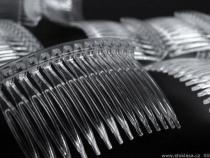 Hřeben plastový do vlasů 45x70mm (4 ks)