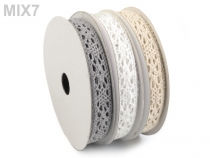 Bavlněná krajka mix šíře 13 mm (3 ks)