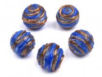 Skleněné korálky vinuté perle Ø16 mm (15 ks)