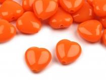 Plastové korálky Color srdce 13x13 mm (150 ks)
