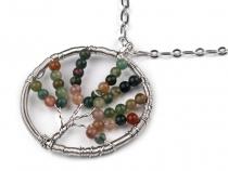 Kovový náhrdelník se stromem (1 ks)