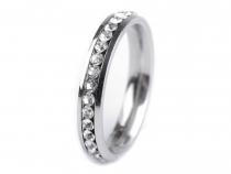 Prsten s broušenými kamínky z nerezové oceli (3 ks)