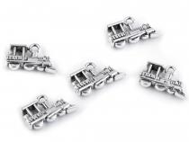 Přívěsek 12x19 mm lokomotiva (5 ks)
