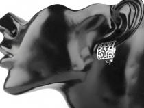 Kovové náušnice klipsy (1 pár)