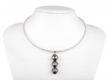Štrasový náhrdelník s broušenými kameny (1 ks)