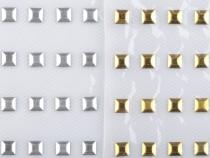 Kovový hot-fix na přenášecí fólii 5x5 mm (5 karta)
