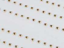 Kovový hot-fix na přenášecí fólii 3x3 mm (5 karta)