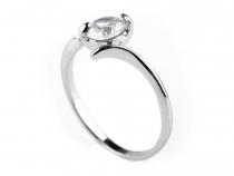 Kovový prsten s broušeným kamínkem (10 ks)