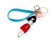 Přívěsek na kabelku / klíče s dívkou (3 ks)