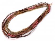 Víceřadý náhrdelník dlouhý (1 ks)