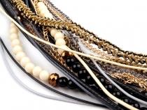 Víceřadý náhrdelník dlouhý (3 ks)