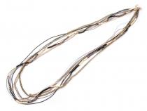 Víceřadý náhrdelník dlouhý (12 ks)