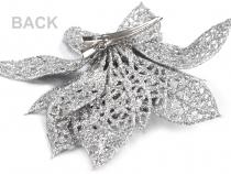 Vánoční hvězda se sponou Ø14,5 cm (1 ks)