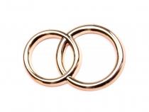 Dekorace svatební prsteny 22x32 mm (10 ks)