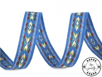 Vzorovka indiánský motiv šíře 13 mm (100 m)