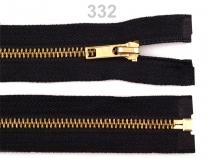 Kovový / mosazný zip šíře 6 mm délka 60 cm (1 ks)