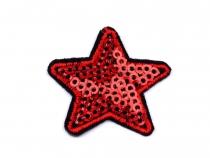 Nažehlovačka hvězda s flitry (500 ks)