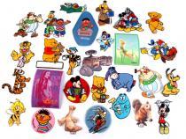Nažehlovačky dětské pohádkové postavy mix (50 ks)