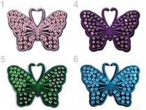 Nažehlovačka motýl s flitry (20 ks)