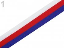 Stuha trikolora Česko, Slovensko šíře 20 mm (50 m)