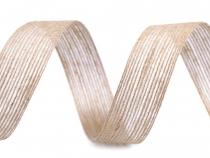 Jutová stuha dvoubarevná šíře 25 mm (60 m)
