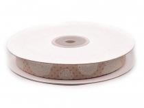 Bavlněná stuha šíře 15 mm s potiskem (22.5 m)