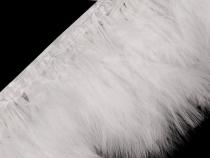 Prýmek - marabu peří šíře 17 cm (2 ks)