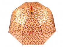 Dámsky dáždnik s rúčkou vystreľovací priehľadný