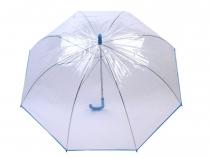 Dámsky dáždnik s rúčkou priehľadný