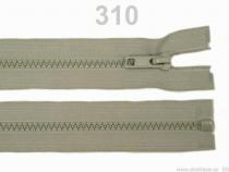 Kostěný zip šíře 5 mm délka 85 cm (bundový) (25 ks)