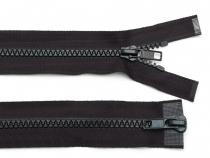 Zip kostěný 5 mm dělitelný 2 jezdce 85 cm (bundový) (1 ks)