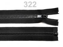 Kostěný zip šíře 5 mm délka 45 cm (bundový) černý (1 ks)
