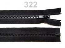 Kostěný zip šíře 5 mm délka 75 cm (bundový) černý (1 ks)