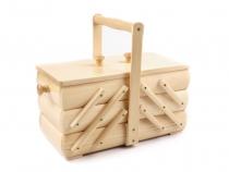Košík na šicí potřeby rozkládací malý (3 ks)